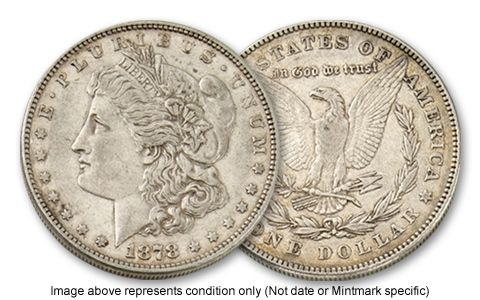 1892-O Morgan Silver Dollar XF