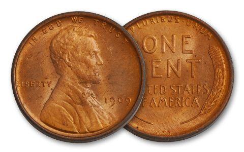 1909-P 1 Cent Lincoln VDB BU