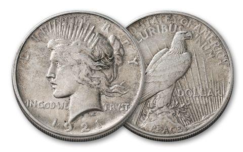 1921-P Silver Peace Dollar XF