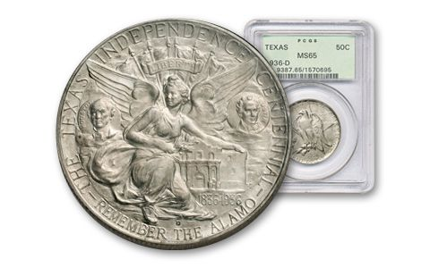 1934-1938 50 Cent Texas Cemmorative NGC PCGS MS65