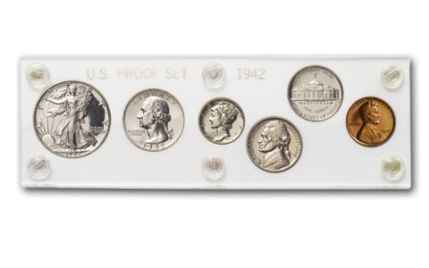 1942 United States Proof Set 6 Piece