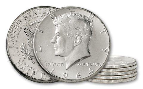 1964 50 Cent Kennedy BU - 5 Pieces
