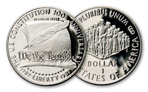 1987 1 Dollar Silver US Constitution Bicentennial Proof