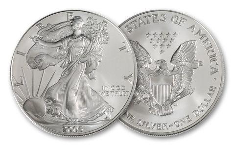 2005 1 Dollar 1-oz Silver Eagle BU