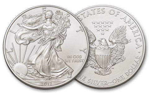 2012 1 Dollar 1-oz Silver Eagle BU