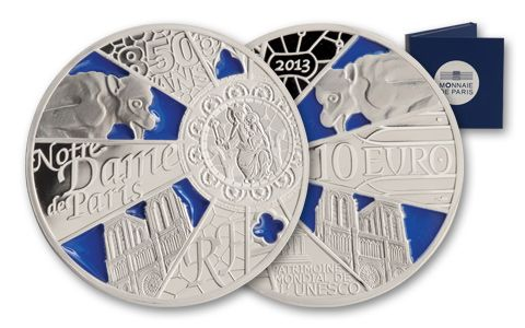 2013 France 10 Euro Silver Notre Dame Proof