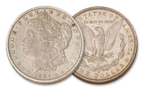 1897-O Morgan Silver Dollar XF