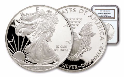 2011 1 Dollar 1-oz Silver Eagle NGC/PCGS Proof 69