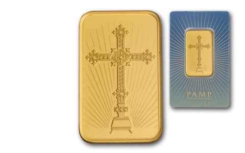 PAMP Suisse 1-oz Gold Cross Bar