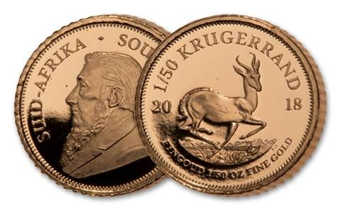 2018 South Africa 1/50th-oz Gold Krugerrand Proof