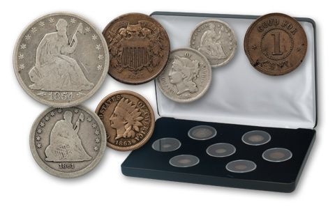 Vanishing Coins Of The Civil War Collection 7 Pieces