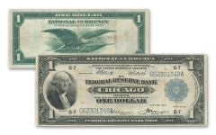 1918 1 Dollar Federal Reserve Bank Note Fine