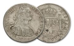 1804 Spanish Silver Dollar VG