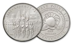 2002-W West Point Bicentennial Silver Dollar BU