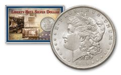 1885-O Morgan Silver Dollar Liberty Bell BU