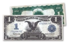 1899 1 Dollar Silver Certificate Black Eagle VF