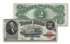 1917 2 Dollar Jefferson Legal Tender Currency Note VF