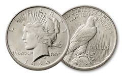 1924-P Peace Dollar BU
