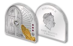 2013 Cook Island 5 Dollar Year of Faith - Swarovski Proof
