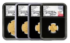 2021 $5–$50 Gold American Eagle Type 1 NGC MS70 4-pc Set First Releases w/Black Core & Jones Signature
