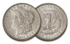 1881-P Morgan Silver Dollar BU
