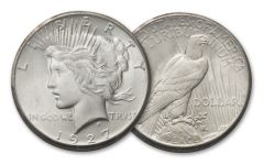 1927-P Peace Silver Dollar BU