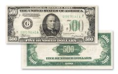 1934 Series 500 Dollar Federal Reserve Note