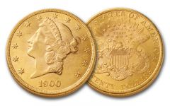 1849-1907 20 Dollar Gold Liberty BU