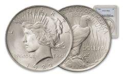 1922-P Silver Peace Dollar PCGS MS64