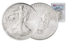 2011 1 Dollar 1-oz Silver Eagle PCGS-MS70 First Strike