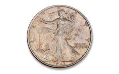 1943-Silver Walking Liberty Half Dollar AU
