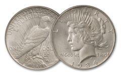 1934-D $1 PEACE BU