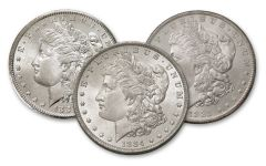 1883-1885-O Morgan Silver Dollar BU 3-Piece Set