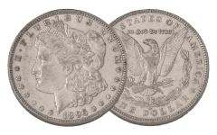 1896-O Morgan Silver Dollar AU