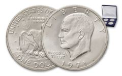 1971-1974 Eisenhower Dollar Silver BU Set 4pc