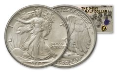 1944 50 Cent Walking Liberty BU D-Day