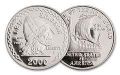 2000-P 1 Dollar Silver Leif Ericson Millennium Commemorative Proof