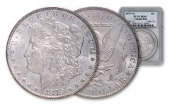 1879-CC $1 MORGAN PCGS MS61 CAPPED DIE