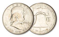 1954-S 50 CENTS FRANKLIN BU