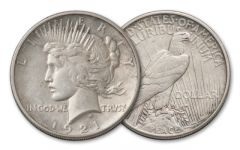 1921-P 1 Dollar Peace AU
