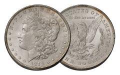 1878-P Morgan Silver Dollar 7/8 Tail Feathers BU