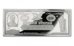 1861 10 Dollar 1-oz Silver Demand Note Gem Proof