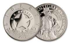 2015 One Dollar Silver US Marshal 225th Anniversary Commemorative Proof