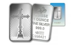 PAMP Suisse 1-oz Silver Cross Bar