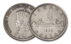 1935 Canada 1 Dollar Silver Voyageur Dollar XF