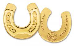 Palau 1 Dollar Half Gram Gold Horseshoe BU