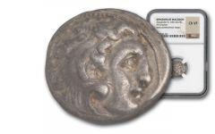 336-323 BC Silver Macedonian Drachm Alexander III NGC CH-VF