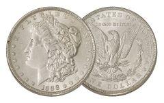 1888-P Morgan Silver Dollar AU