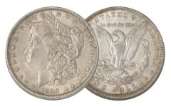 1890-O Morgan Silver Dollar AU