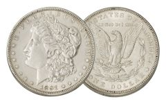 1891-P Morgan Silver Dollar AU